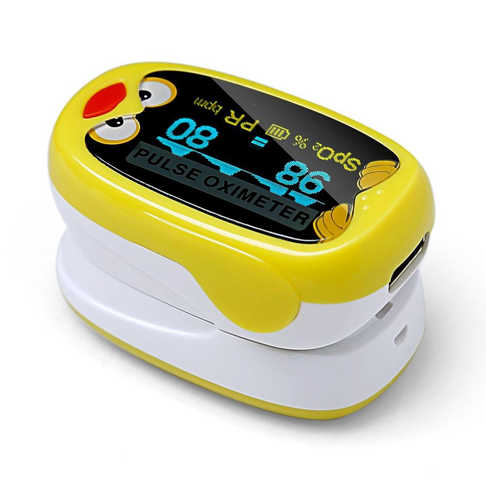 BOXYM Okids Pulse Fingertip Oximeter Blood Oxygen Saturometro OLED Display Rechargeable