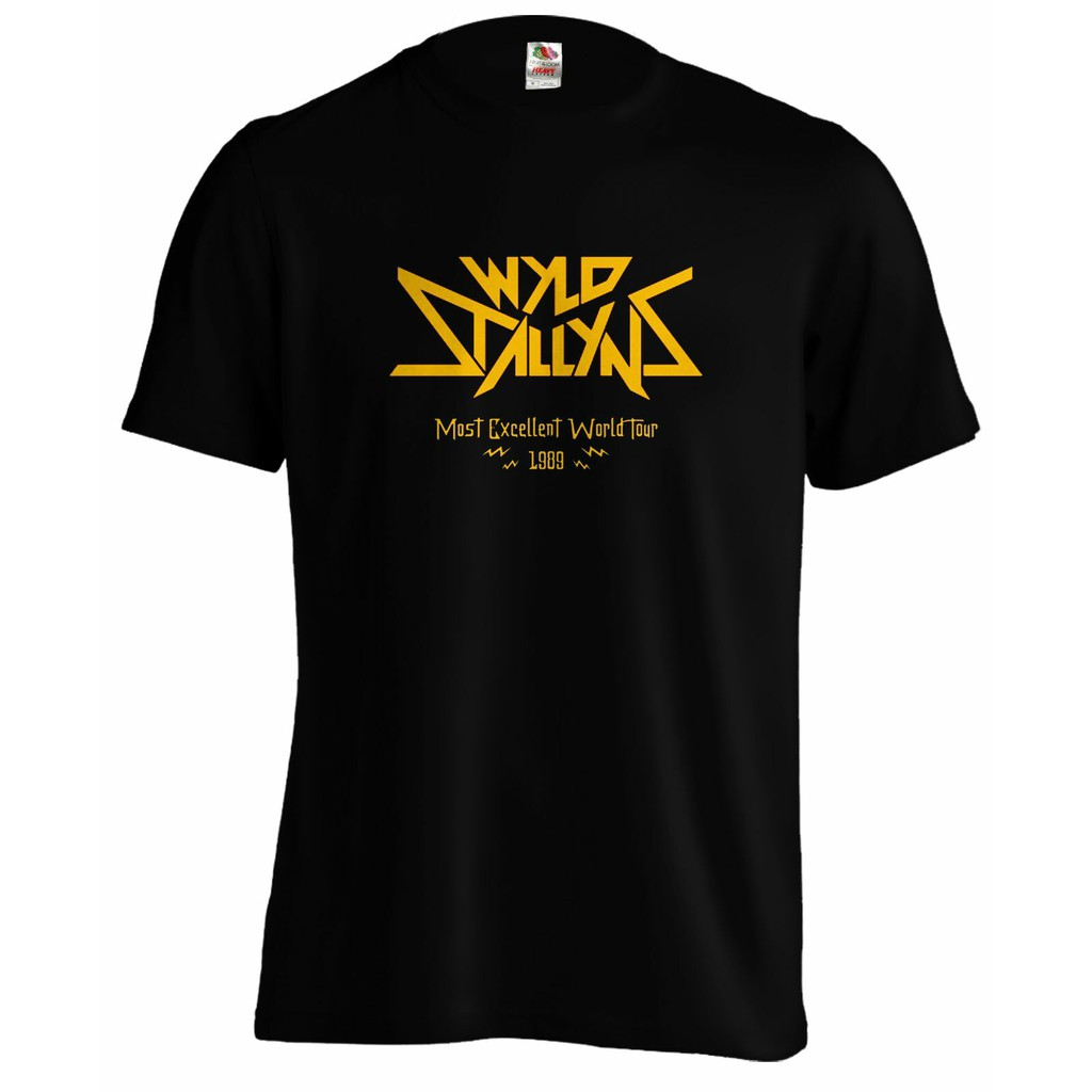 Bill /& Ted Wyld Stallyns Most Excellent World Tour 1989 Men/'s T Shirt Rock Merch