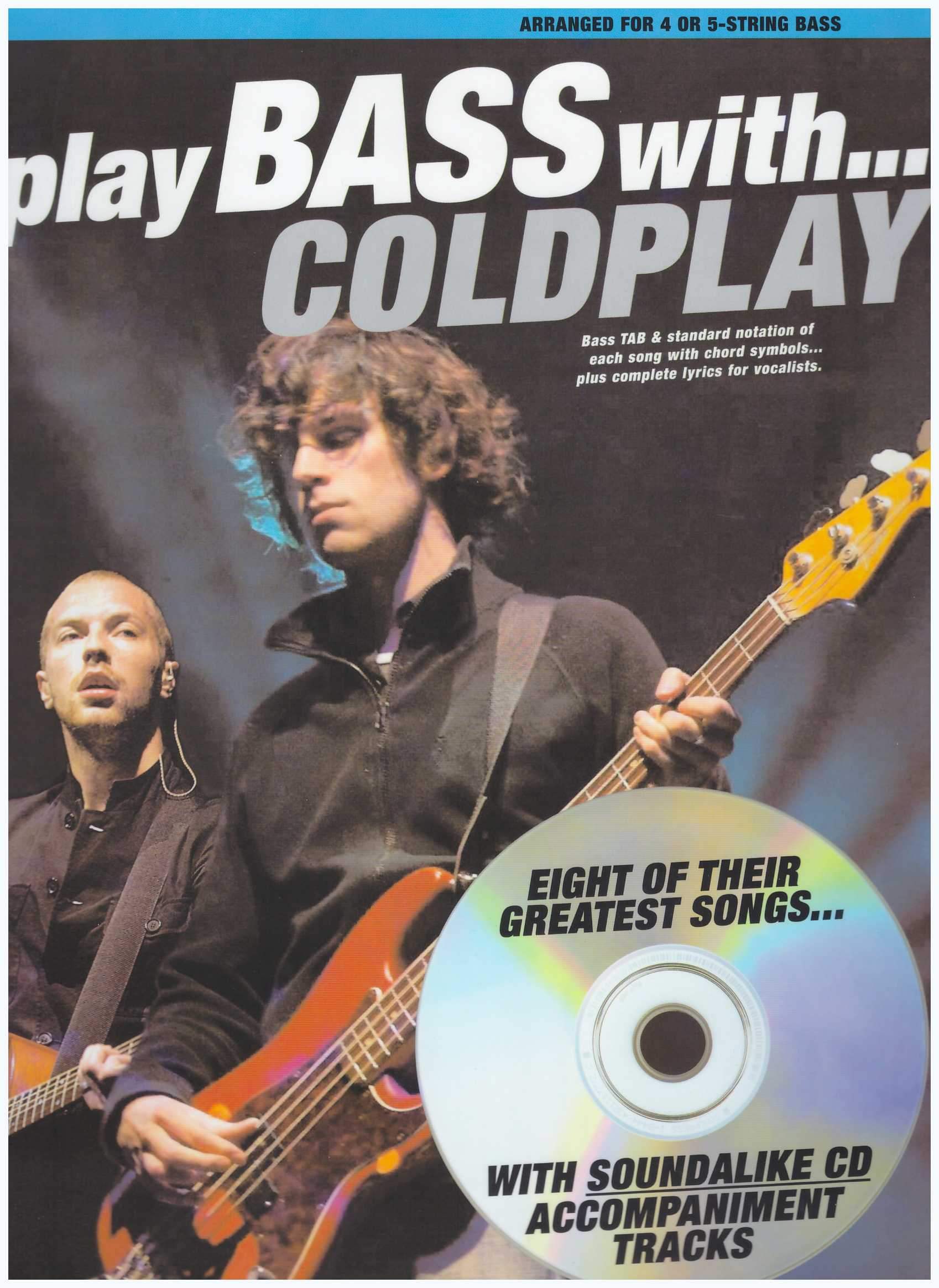 Play Bass With... Coldplay / Vocal Book / Voice Book / Guitar Book / Gitar Book / Tab Book / Guitar Tab Book