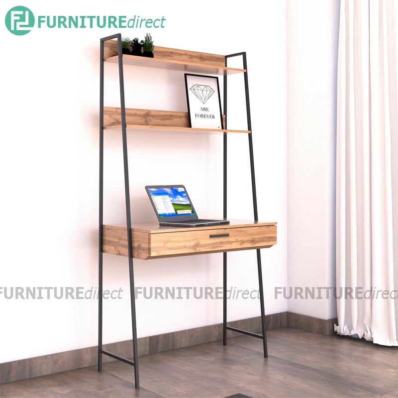 Furniture Direct NORMAD industrial style metal study desk with drawer