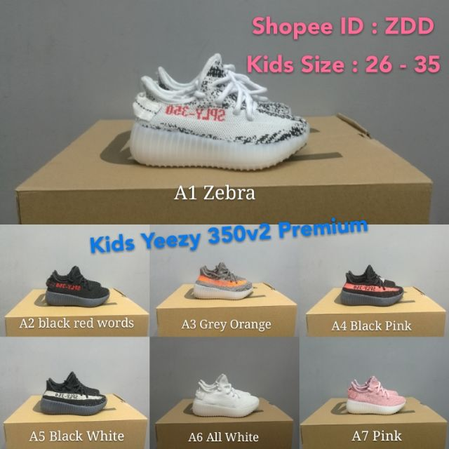 best service 2509e 4ce09 Ready Stock Original Yeezy 350v2 kids boots adidas yeezy boost shoes