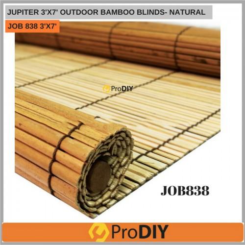 JUPITER JOB 838 3' x 7' Outdoor Bamboo Blinds - Natural