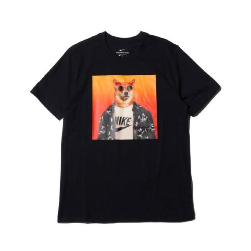 Camión golpeado hielo Controversia  Nike Nsw Tee Short T Shiba Sunglasses Dog Photo Bq 0186 010 Black 100 White    Shopee Malaysia