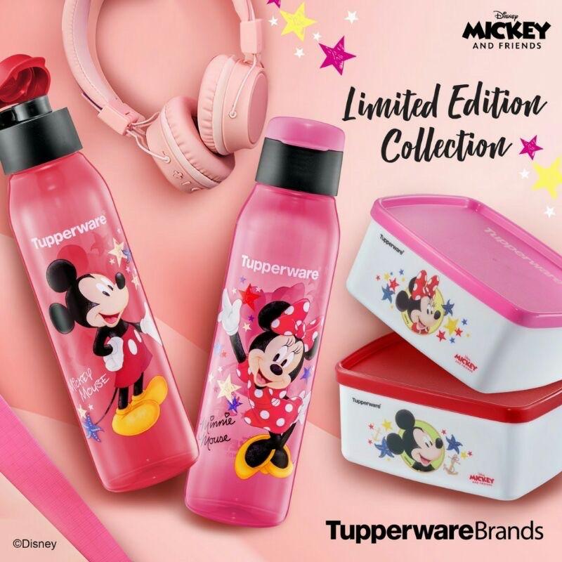 🔥Ready Stock🔥 Tupperware Mickey & Minnie Eco Bottle 500ml