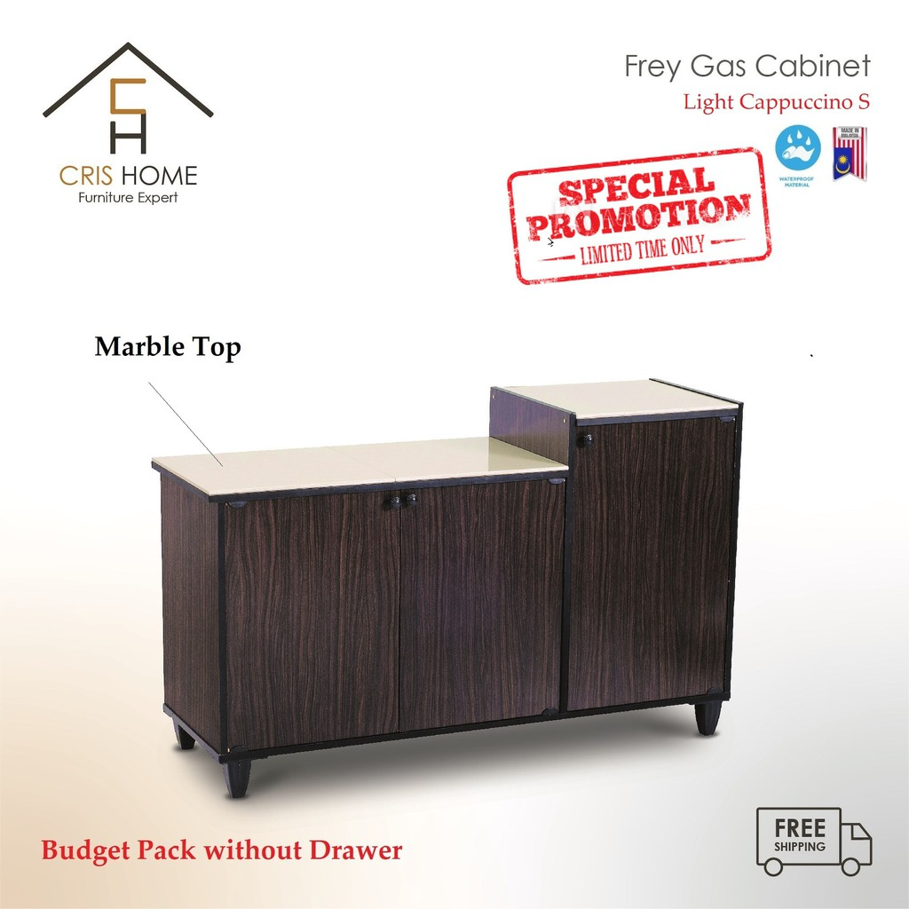 CrisHome - Almari Gas / Tile TOP Gas Cabinet / Stove Cabinet/ Dapur-3643004 ( 1 Year Warranty )