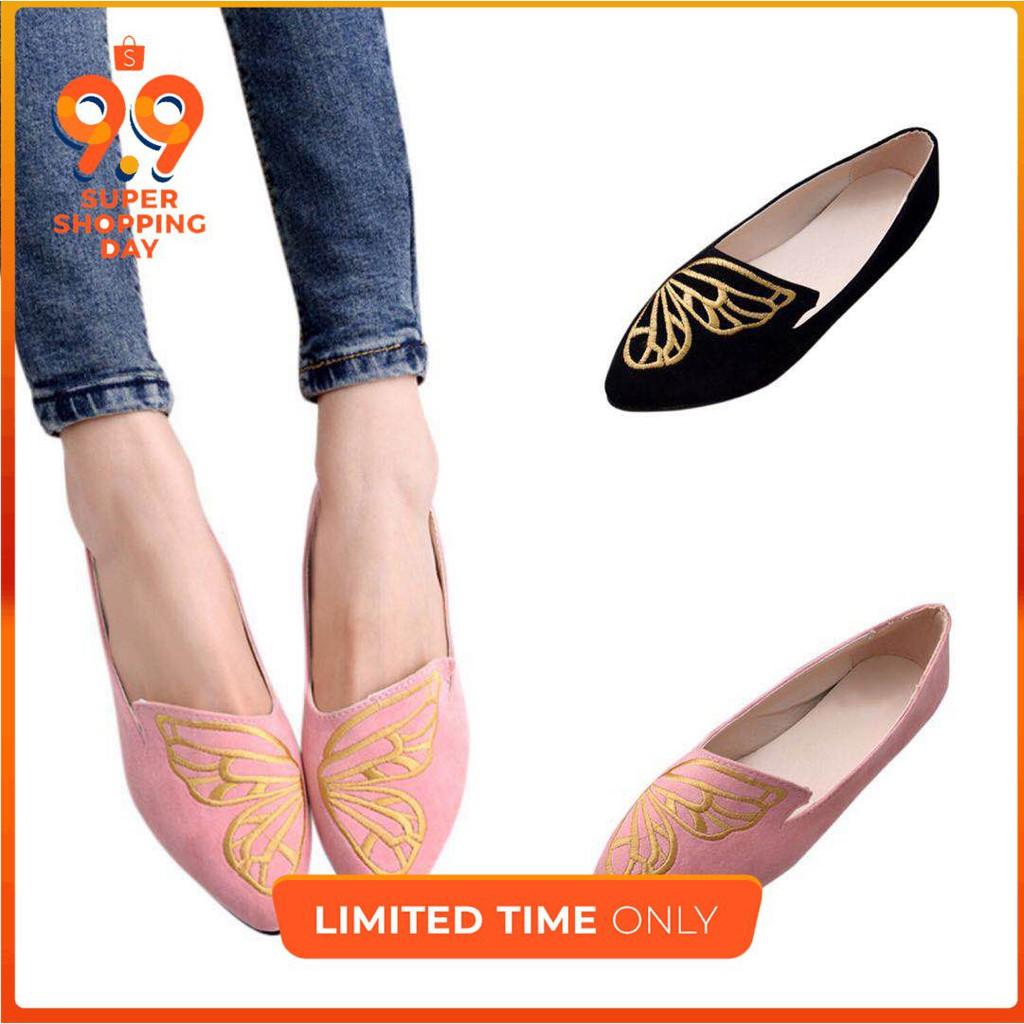 BEYARNE New Women Soft Denim Flats Blue Fashion High Quality Basic Pointy  To  94aa678f7914