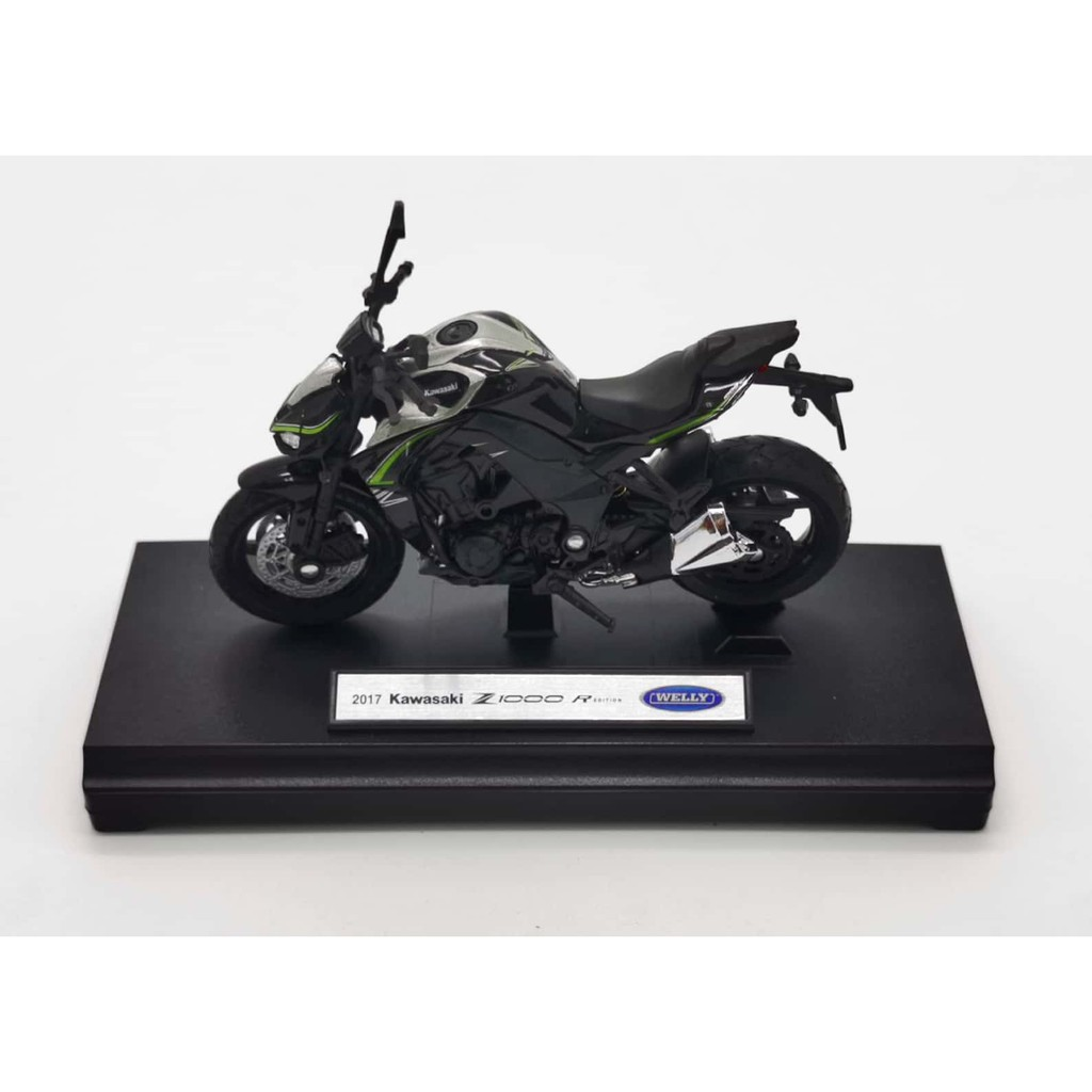 WELLY 1:18 METAL DIE CAST KAWASAKI Z 1000 R MOTORCYCLE (BLACK) MODEL COLLECTION 12846PW