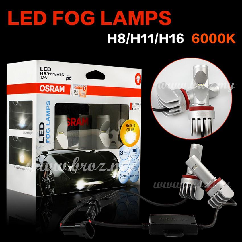 Lamp 6000k Hybrid Fog 65219cw Led H8h11h16 Osram Color XNn0w8OPk
