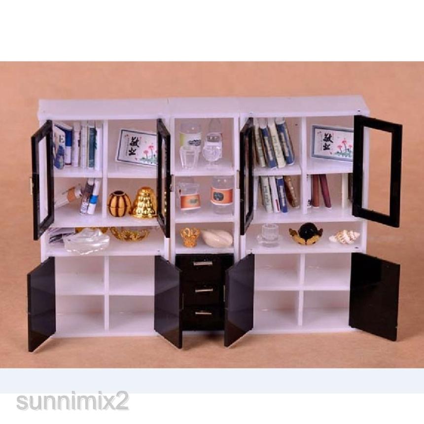 1 12 Dollhouse Furniture Multifunctional Cabinet Bookshelf Kids