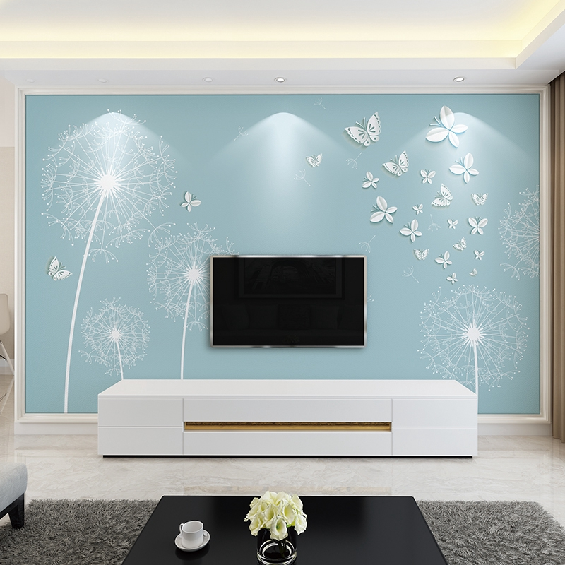 ▤﹍▥TV background wall paper 3d Wallpaper 5d stereo Modern simple atmosphere  film and television decoration mural seaml