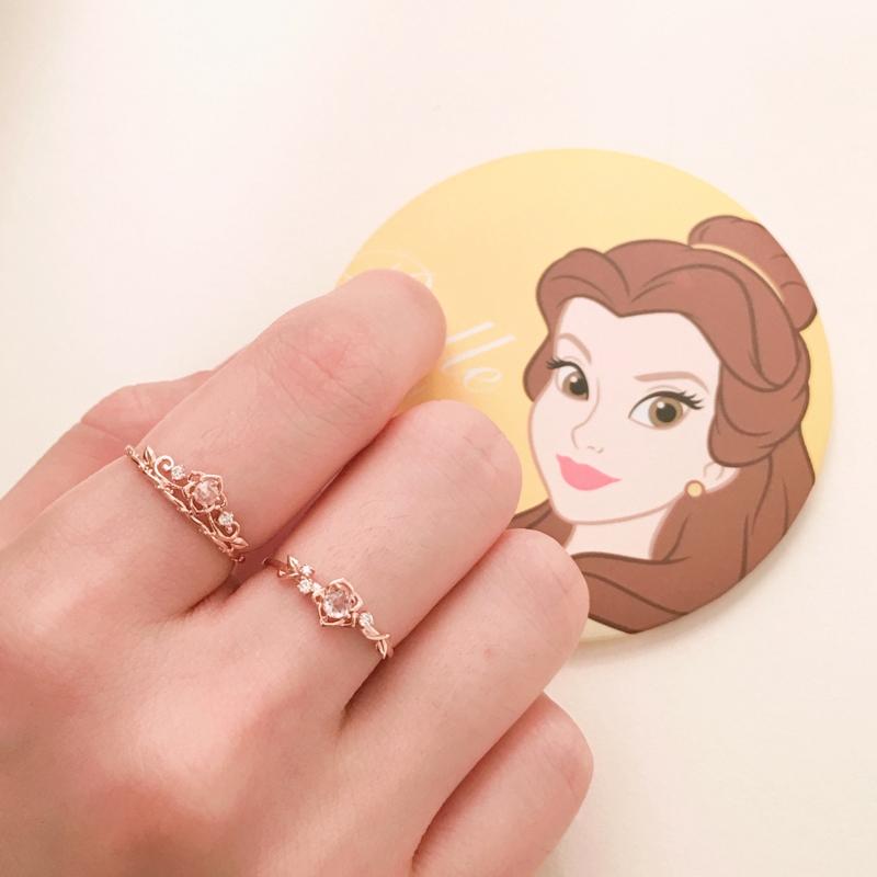 【YL】LLOYD Disney Princess 10K Gold Belle Princess Ring Crown