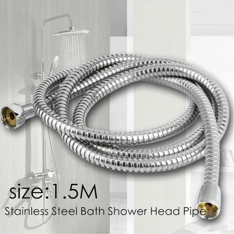 Shower Head Hose 5 Feet Handheld Hand Held Bathroom Flexible Tube Extra Long