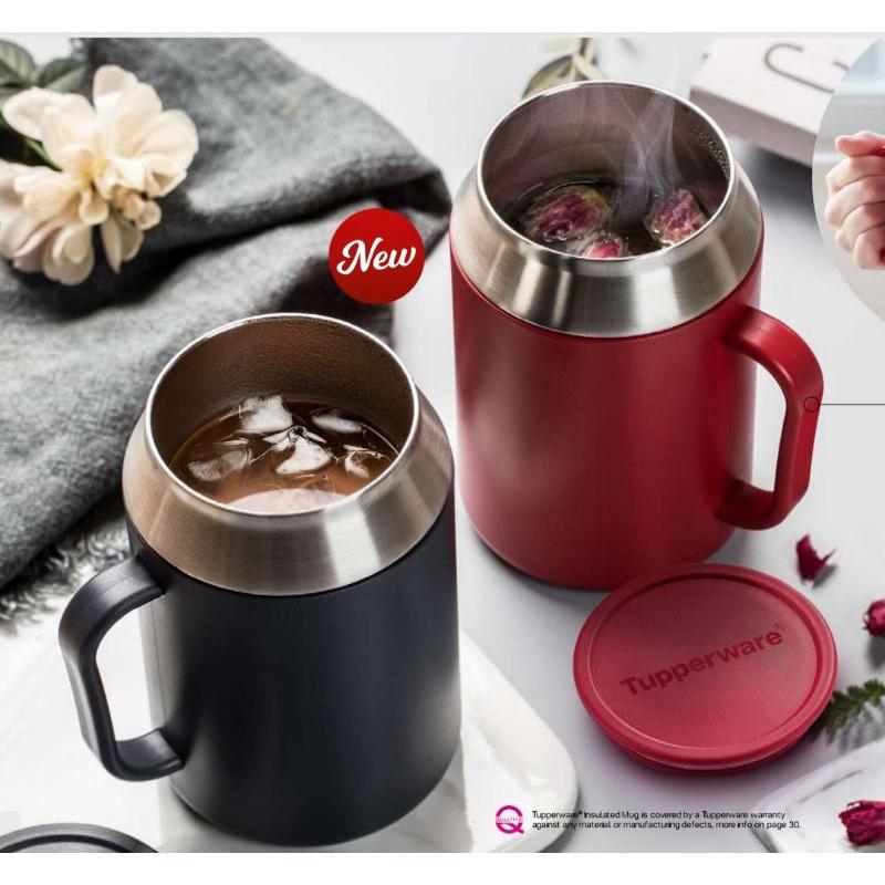 Tupperware: Insulated Mug (1) 400ml (Red&Black)