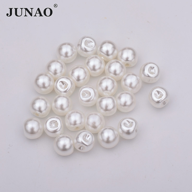 Junao 13mm Clear Rhinestones Buttons Sew On Round Acrylic Button Point Crystal Stones For Clothes Shirt Decoration Accessory Apparel Sewing & Fabric