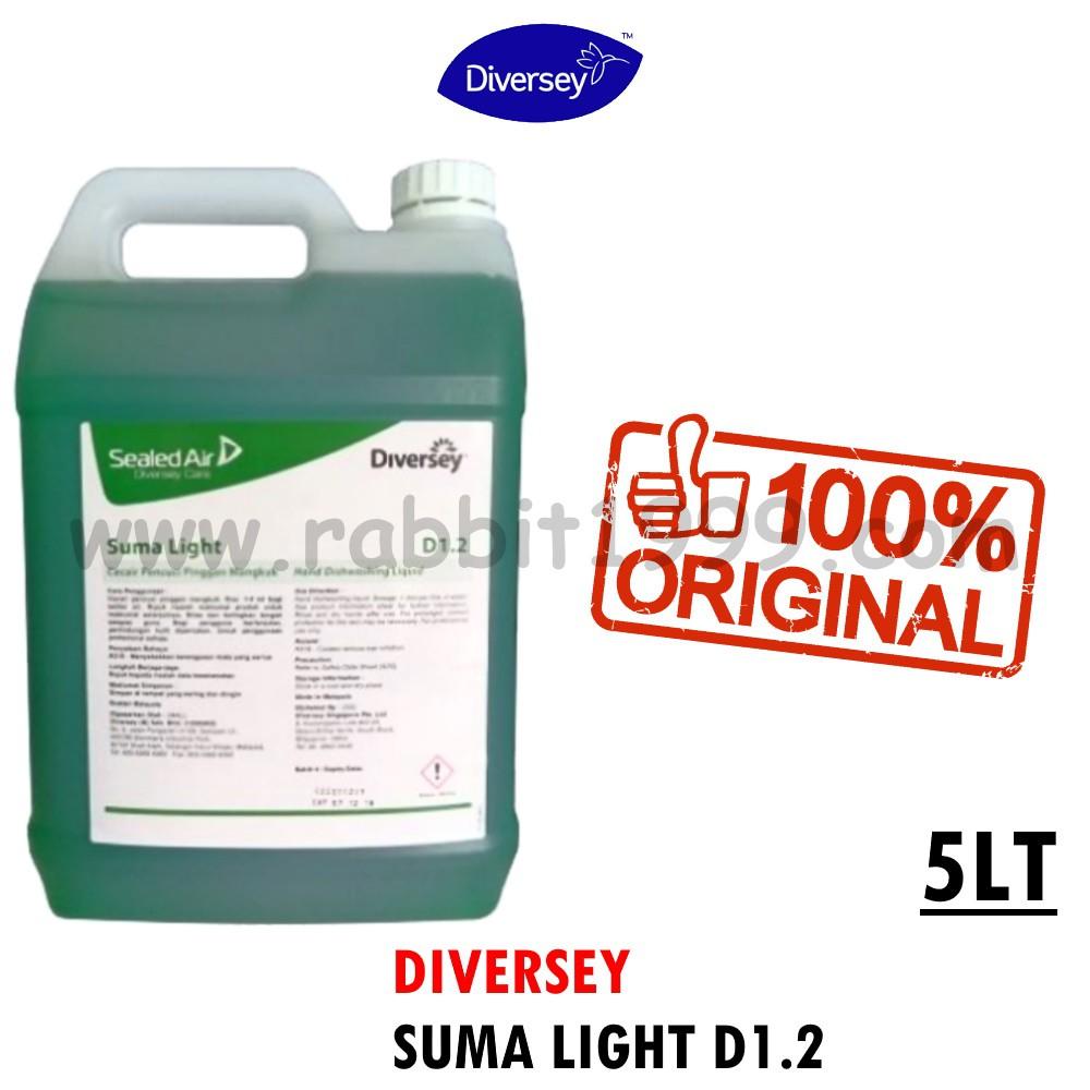 DIVERSEY SUMA LIGHT D1.2-5Lt- diversey dish wash / diversey dishwash liquid / dish washing liquid / diversey distributor
