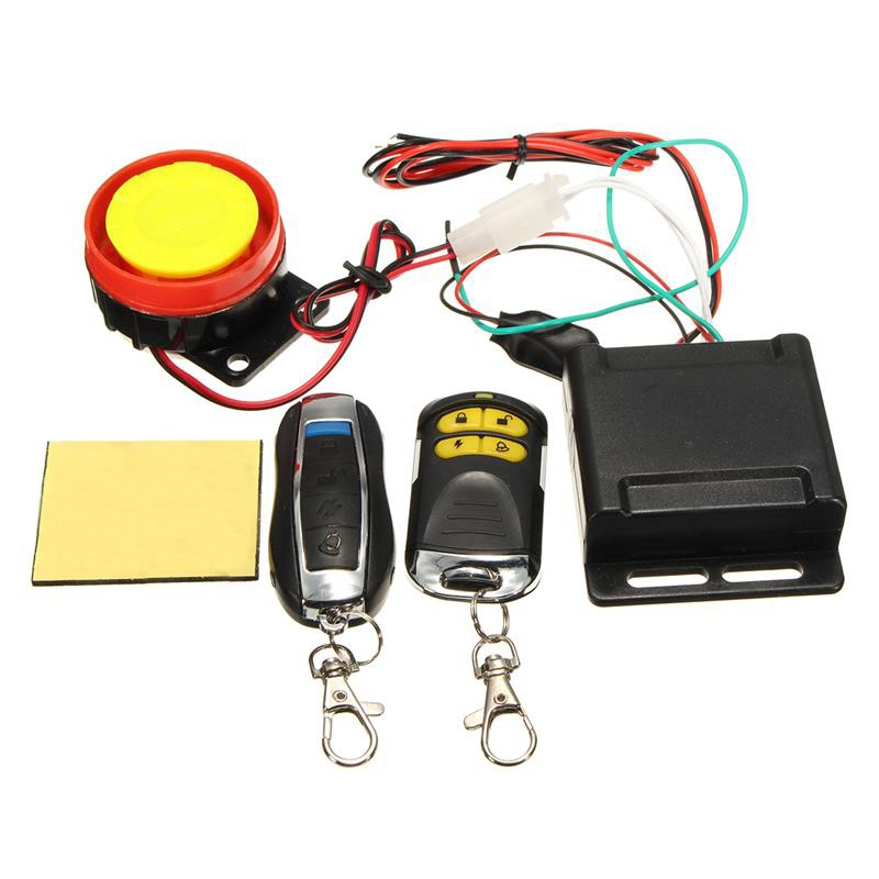 Motorcycle Anti-theft Alarm Security System Remote Control Engine 125db 12V  Acc