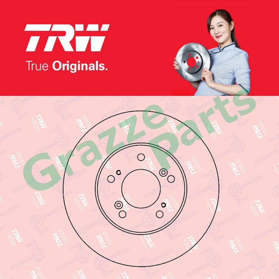 (2 pcs) TRW Disc Brake Rotor Front for DF4028 Honda CRV S10 RD1 RD3 (282mm)