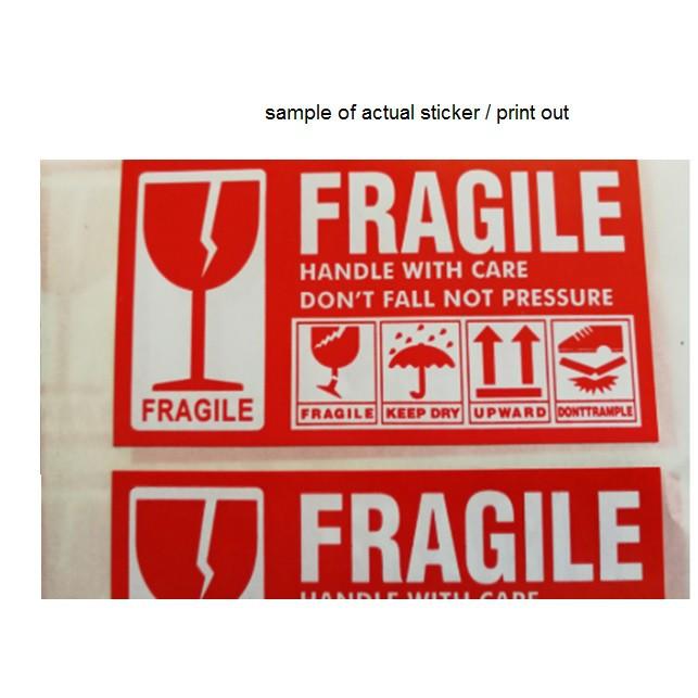 FRAGILE Sticker Warning Label