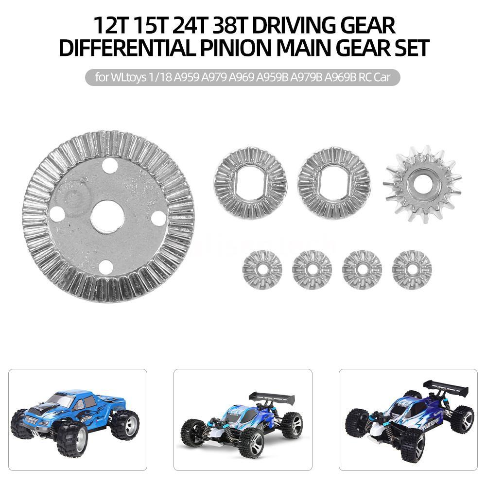 Motor Gear 27T For 1//18 WLtoys A959-B A969-B A979-B Metal Diff Main Gear 42T