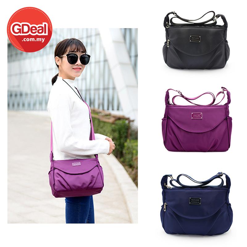 GDeal Casual Wear Women's Nylon Small Bag Diagonal Cross Waterproof Handbag Beg Tangan بيڬ تاڠن