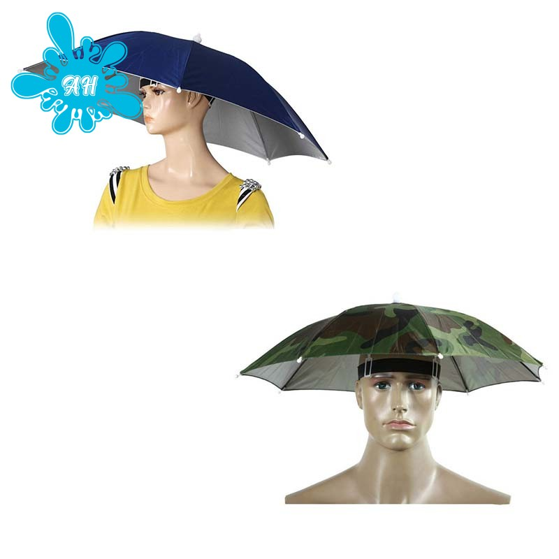 174e6a3a8 2PCS Umbrella Hat Headwear for Outdoor Fishing Gardening (Camouflage)