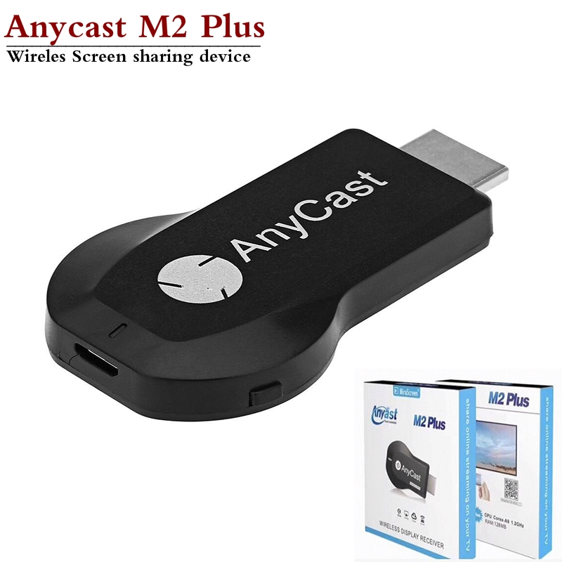 【Ready Stock】2019 New Anycast M2 plus Wireless HDMI Media Video Wi-Fi 1080P  Display Dongle Receiver