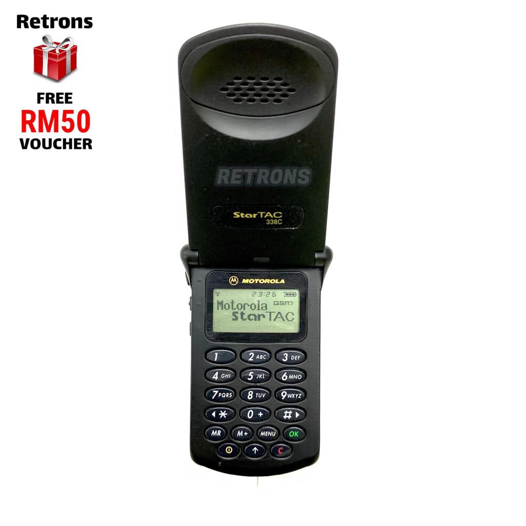 🇲🇾 Original Refurbished Genuine Classic Motorola StarTAC 130 1998 Year Model Matte Black [1 Month Warranty]
