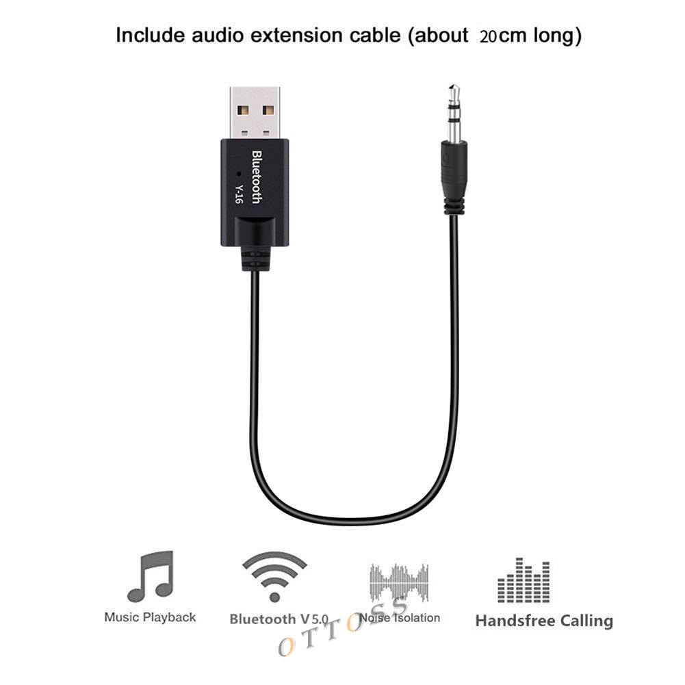 Bluetooth 4.2 Hands-Free Audio Adapter with Backlit Multifunction Button ONEVER Bluetooth Car Kit Bluetooth Receiver Built-in Microphone and 3M Magnetic Base