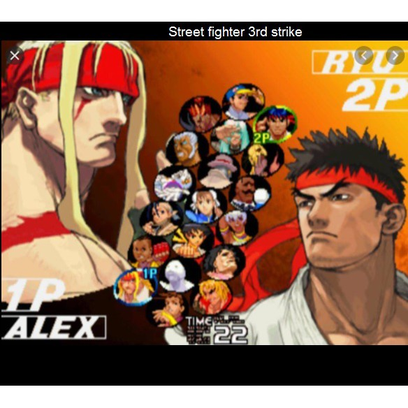PS2 Game Street Fighter Anniversary Collection , English version, Fighting Game / Multi 2 in 1 Game