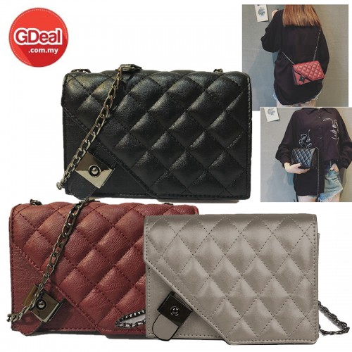 GDeal Fashion Plaid Chain Bag Cross Shoulder Messenger (RYL-265)