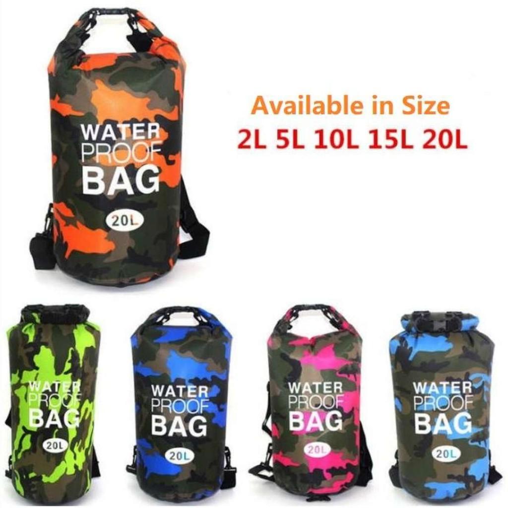 20L WATERPROOF DRY BAG SACK STORAGE BAG CANOE KAYAK CAMPING CYCLING FISHING 2L