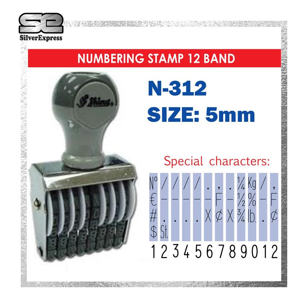 NUMBERING STAMP 12 BAND / 3MM / 4MM / 5MM / 12 DIGIT NUMBER STAMP / CHOP NOMBOR / 12 DIGIT / RUBBER STAMP