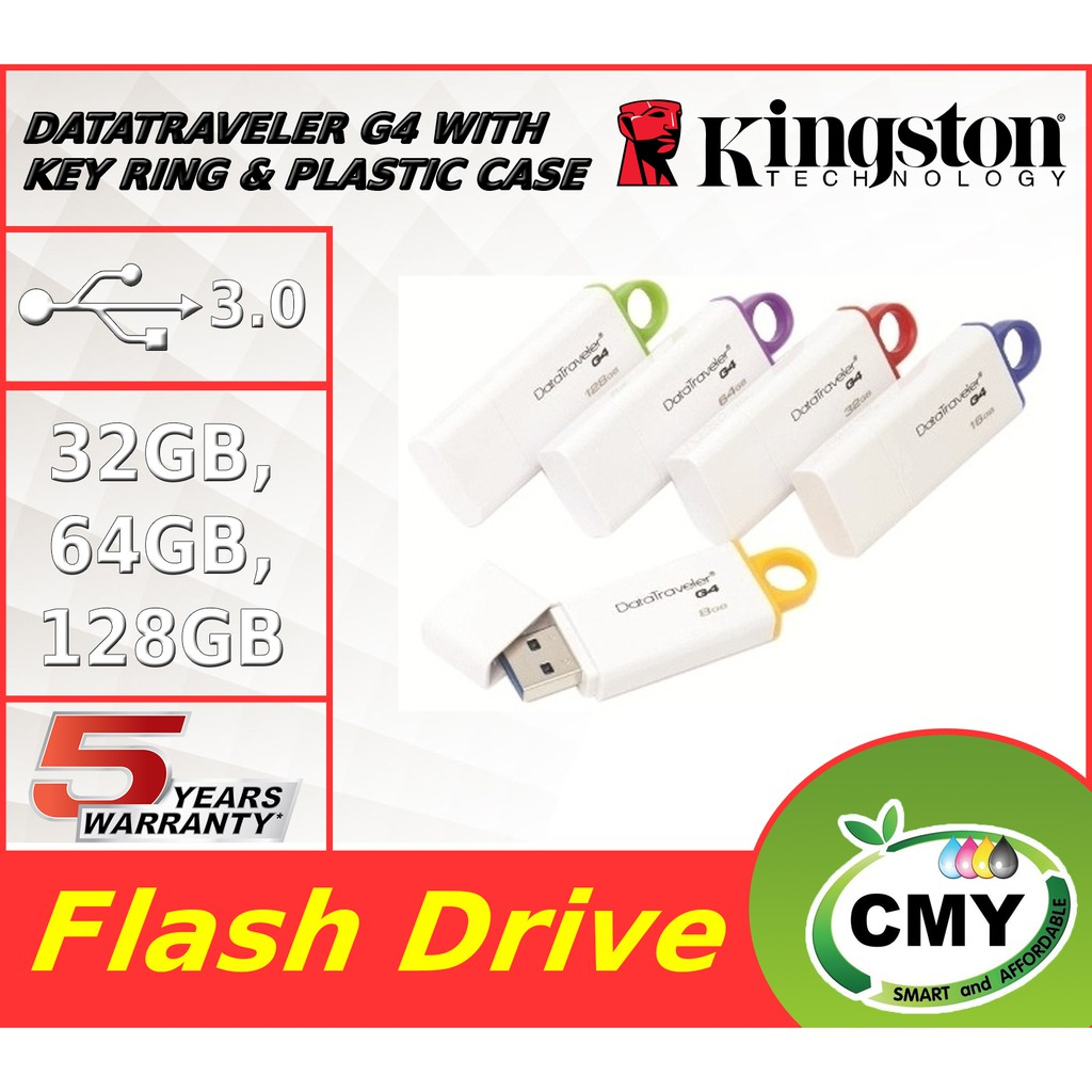 Kingston DataTraveler G4 DTIG4 USB 3.0 Flash Drive ( 32GB/ 64GB/ 128GB)  DTIG4/32GB DTIG4/64GB DTIG4/128GB