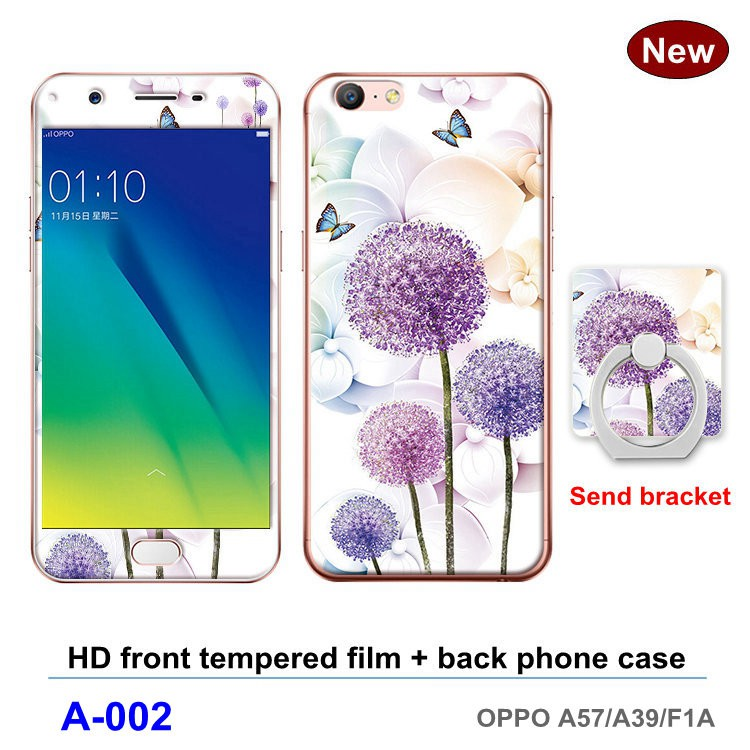 OPPO A57/A39/F1A Thin Soft Silicone Floral Casing Cover