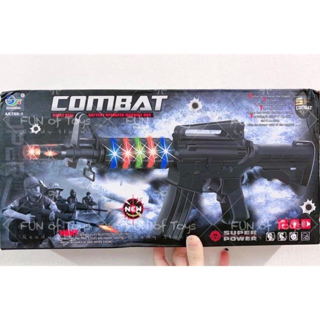 Ready Stock Combat Machine Gun Sound And Light Shopee Malaysia