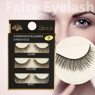 d85faebad98 6pcs Natural False Eyelashes Dense Thick Fake Eye Lashes Extension Makeup  Tool | Shopee Malaysia