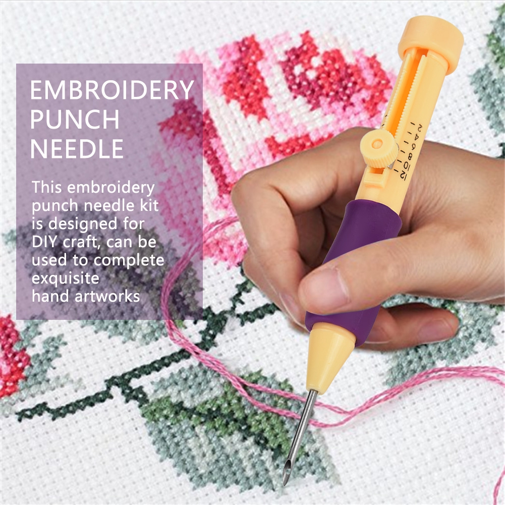 3 Size Punch Needle Set Embroidery Stitching Craft Tool for DIY Sewing