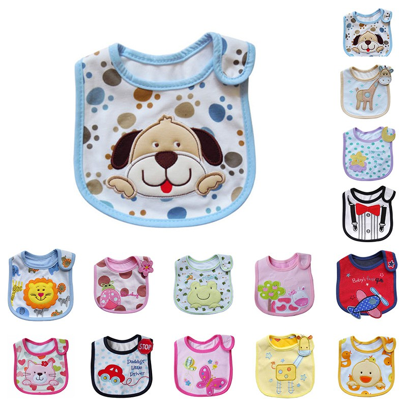 Baby Boy Girl Toddler Infant Bibs Waterproof Saliva Towel Feeding Bandana Bib