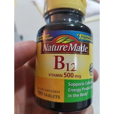 c86755de203 Nature Made - Vitamin B12 500 mcg - B12 Vitamin - 100 Tablets   ...