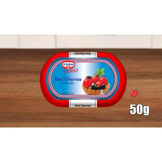 Dr. Oetker Nona Red Cherries 50g ( Free Fragile + Bubblewrap Packing )