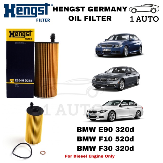 HENGST GERMANY OIL FILTER BMW E90 320d F10 520d F30 320d