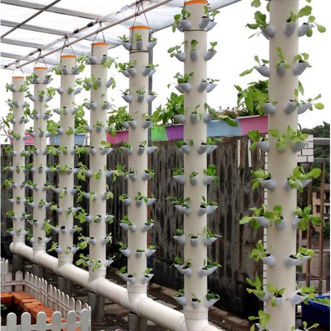 Vertical Tower Plant Pot (50pcs) DIY Vertical Garden ...