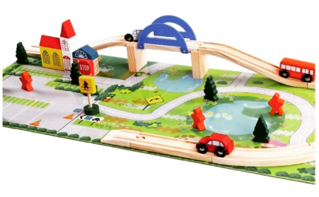 Rail Overpass Wooden Toy