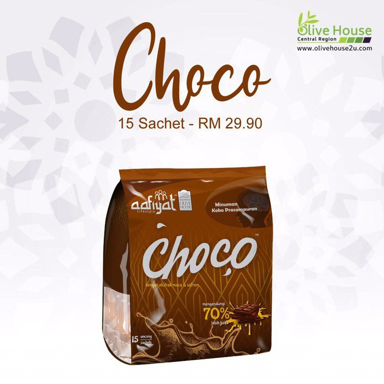 [ HOT SELLING ]Minuman Koko, CHOCO DRINK by OLIVE HOUSE with 70% choco and NO SUGAR