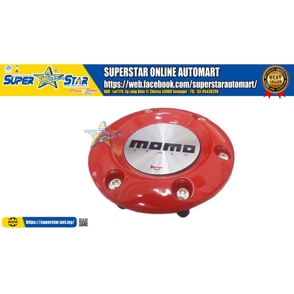 Momo Red Horn Button Steering Wheel Hub Cap(Plastic)