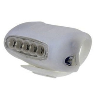 Bike Bicycle Head Front Frog Lamp Rear Safety Tail Light 7 LED Silicone