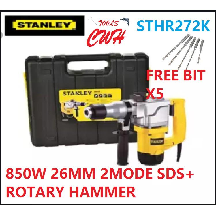 STANLEY STHR272K 5KG L-SHAPE 26MM 850W 2mode Rotary Hammer DRILL SDS PLUS SDS+ STHR 272K STHR 272 K