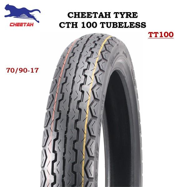 TAYAR CHEETAH CTH100 TUBELESS (100% ORIGINAL) *DUNLOP TT100* 70/90-17, 80/90-17