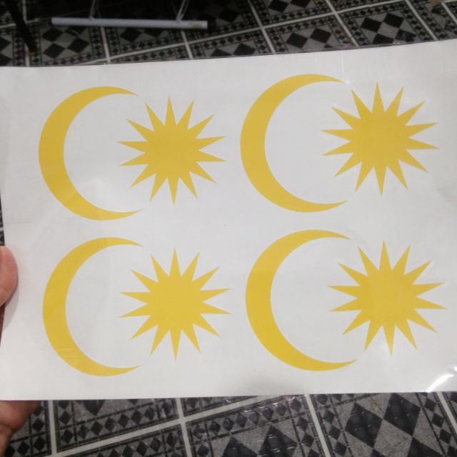 Sticker Fabric Bulan Bintang Shopee Malaysia