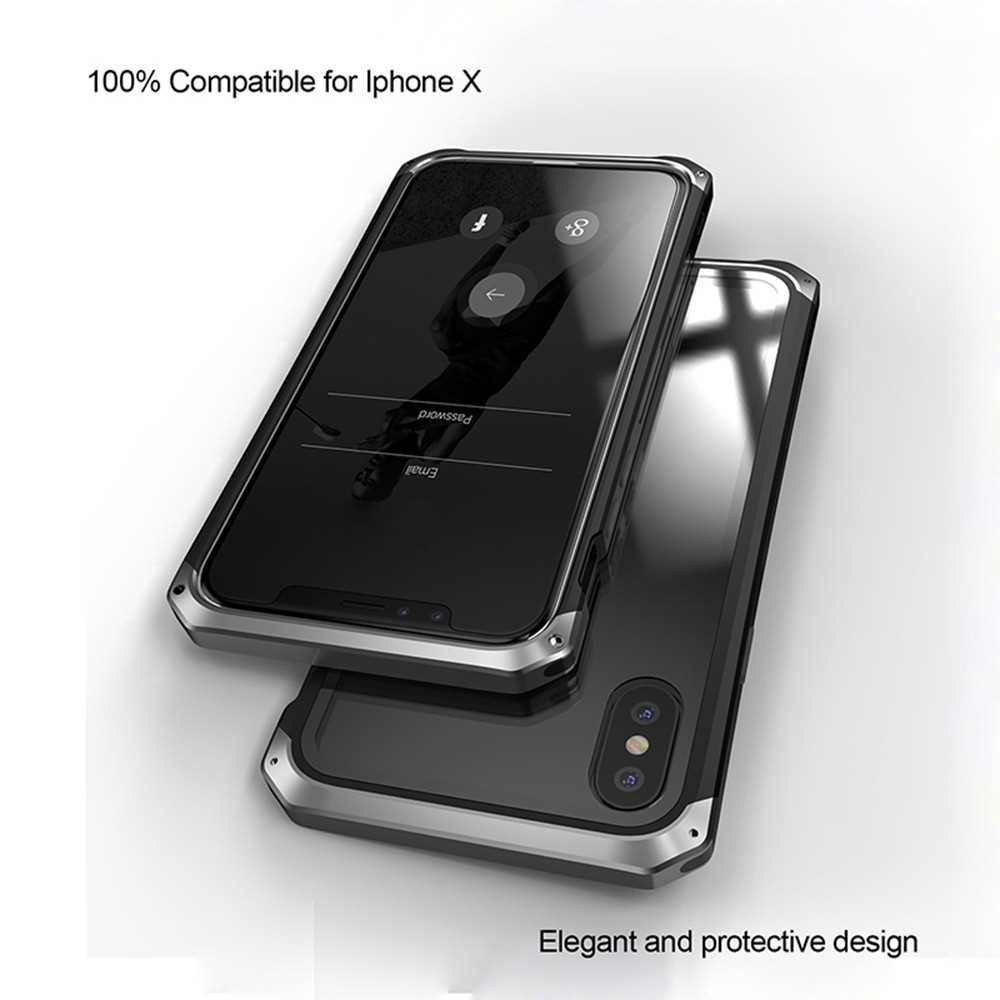 Fashionable Practical Phone Cover Metal Protective Frame Breakingproof Mobile Phone Shell with Transparent Clear Toughe